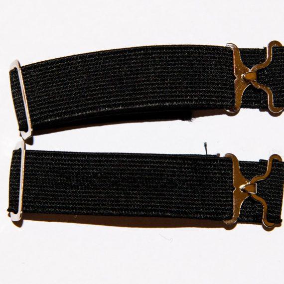 Elasticated Sock Garter - Black