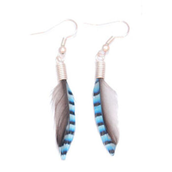 Jay Feather earrings